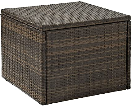 Incroyable Crosley CO7202 BR Palm Harbor Outdoor Wicker Coffee Sectional Table, Brown