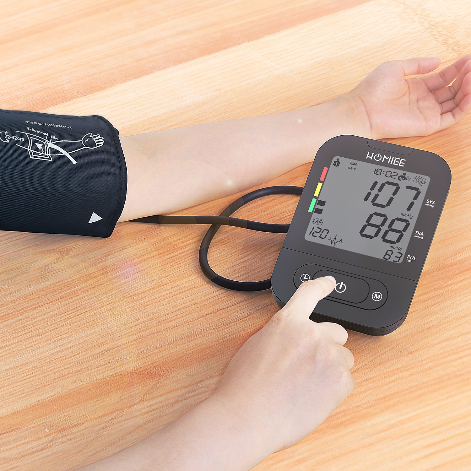 Amazon.com: Automatic Blood Pressure Machine, Heart Rate Monitor with 2.4