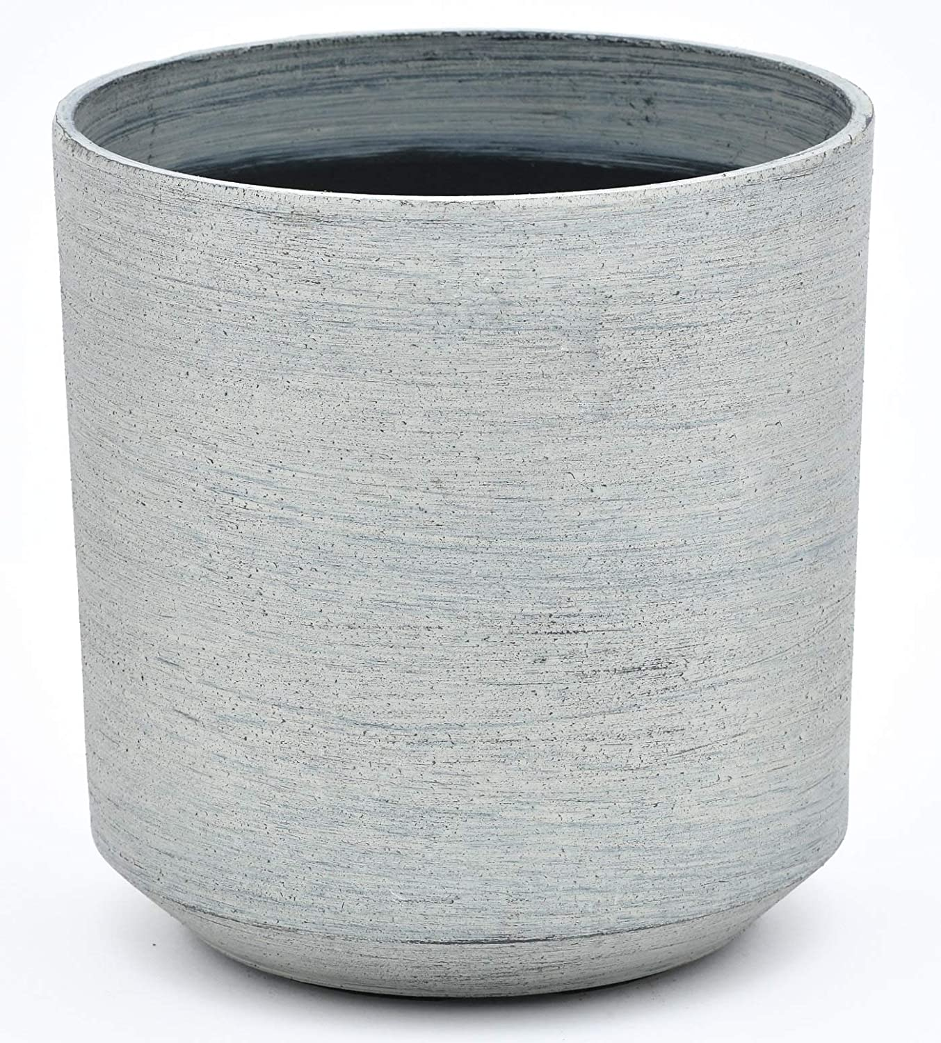 TABOR TOOLS Plastic Round Planters, 9 Inch, Light Weight, Includes Drainage Hole with Plug, Natural Modern Look and Stylish Finish. VB102A. Matte Finish – Stone