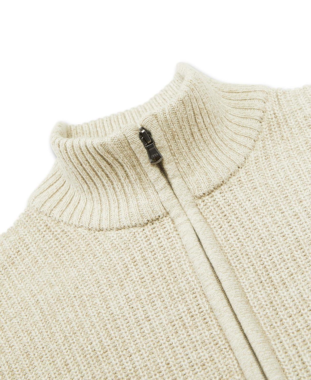IZOD Mens Newport Marled Quarter Zip 7 Gauge Textured Sweater