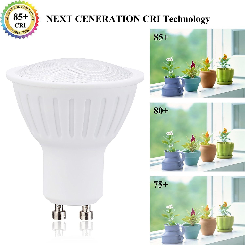 Pack of 6 70W Halogen Bulbs Equivalent 120 Degree Beam Angle 700lm 7W Dimmable 3000K Soft White LED Light Bulbs GU10 LED Bulbs
