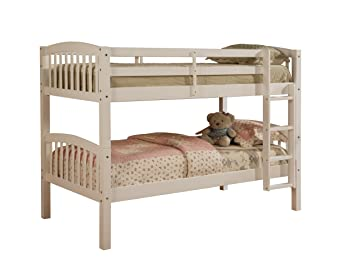Amazon Com Linon Mission Style Bunk Bed White Kitchen Dining