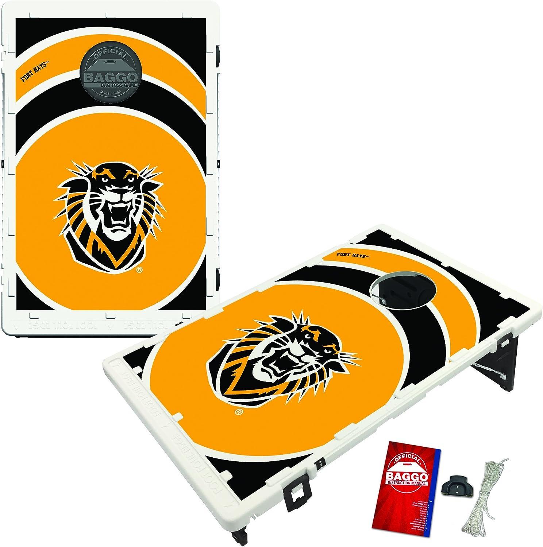 Victory Tailgate Fort Hays State Tigers Baggo Bean Bag Toss Cornhole Game Vortex Design