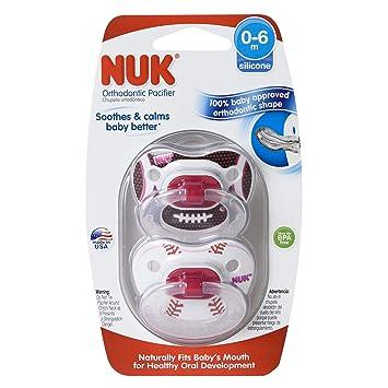 Amazon.com: NUK Sports 2 pieza ortodoncia chupete, Chica, 0 ...