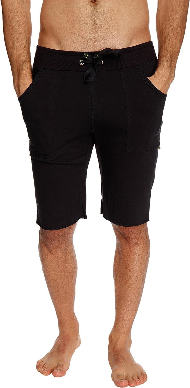 4-rth Mens Cuffed Yoga Shorts with Pocket