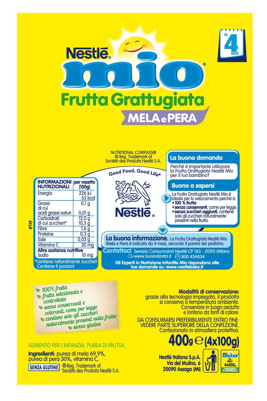 Nestlé mi fruta rallado manzana y pera 4x100g: Amazon.es: Salud y cuidado personal