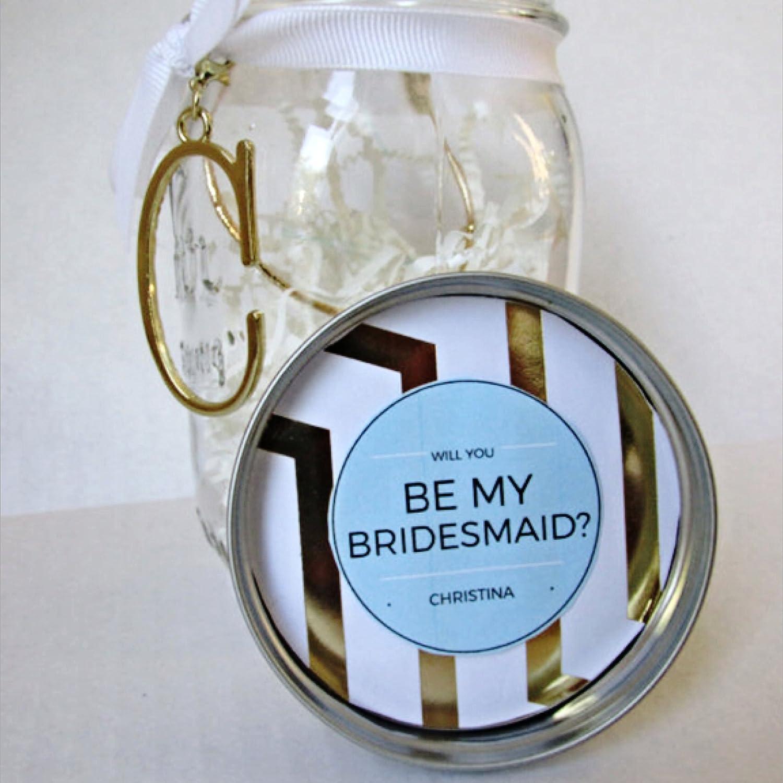 Mason Jar Bridesmaid Proposal