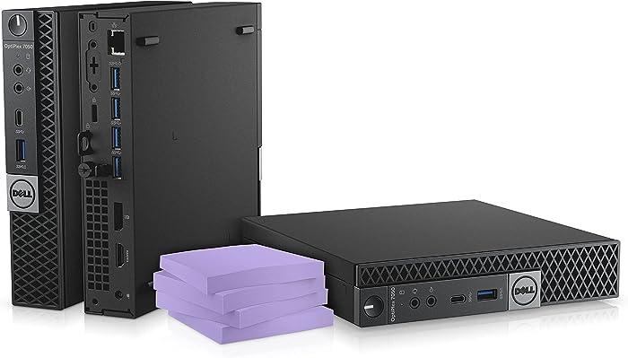 Dell OptiPlex 7070 Micro Desktop Computer - 3.1Ghz Intel Core i5-8600T Six-Core - 256GB SSD - 8GB DDR4 - Win10 Pro (Renewed)