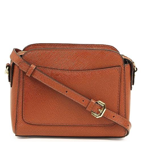 87316b2632f Da Milano LB-2246 Leather Sling Bag (Coniac)  Amazon.in  Shoes   Handbags
