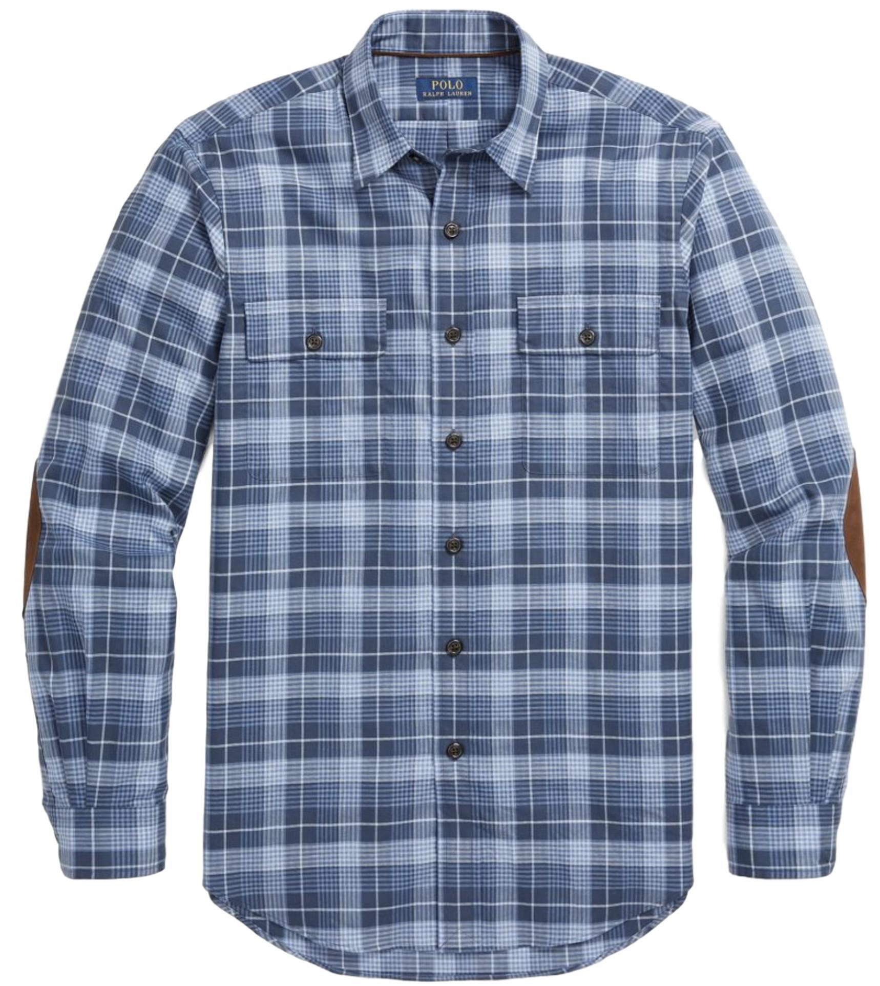 Polo Ralph Lauren Men's Long Sleeve Button Down Shirt-ShadeMulti-Large
