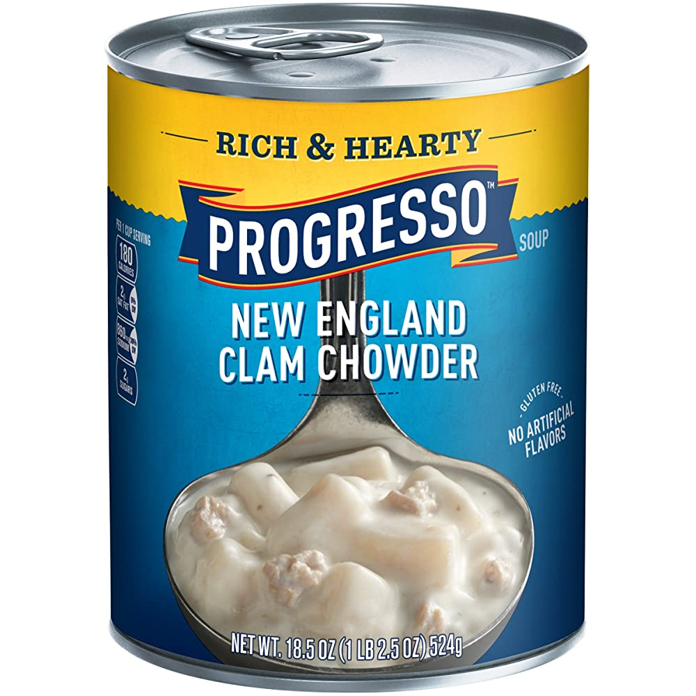 Progresso Rich & Hearty Soup, New England Clam Chowder Review