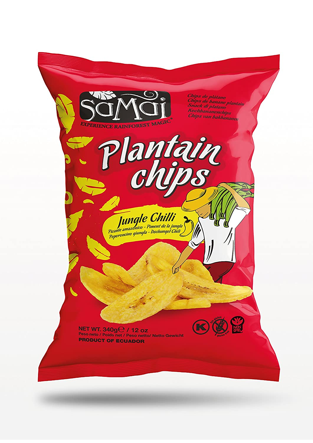 Amazon.com : Samai Plantain Chips Jungle Chili 12 oz (Pack of 12) : Grocery & Gourmet Food