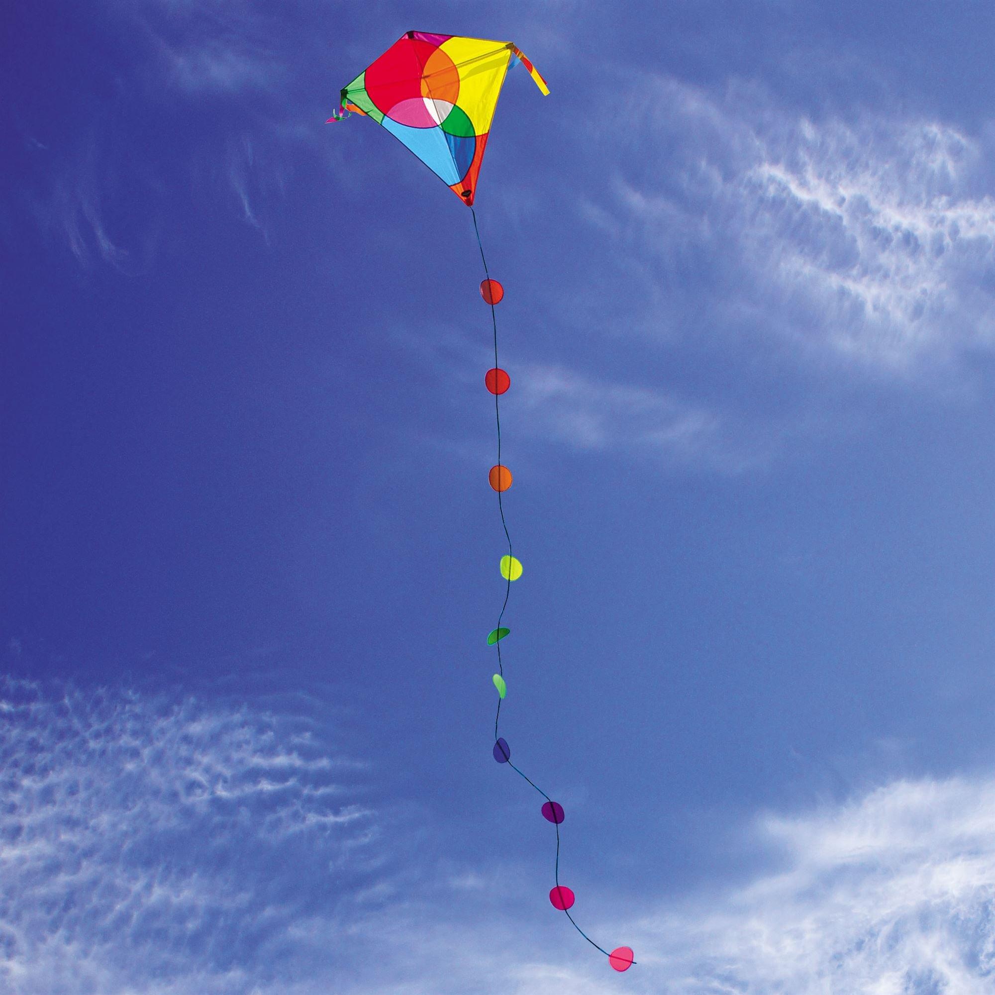 Into The Wind Bubbles Diamond Kite