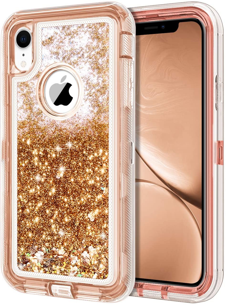 Amazon.com: JAKPAK - Carcasa para iPhone XR para chicas y mujeres, iPhone  XR con purpurina, resistente a los golpes y a prueba de golpes, carcasa  rígida de PC + cubierta trasera de