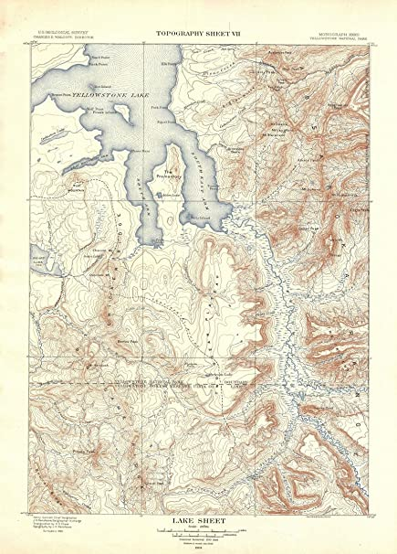 Topographic Map Of Yellowstone.Amazon Com Historic Pictoric Historical 1904 Usgs Topographic Map