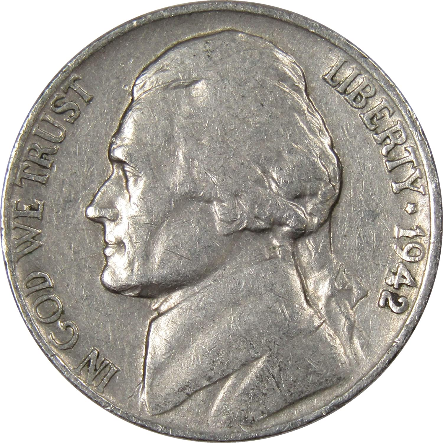 Cir 1942 P and D Avg 35/% Silver War Nickels Condition