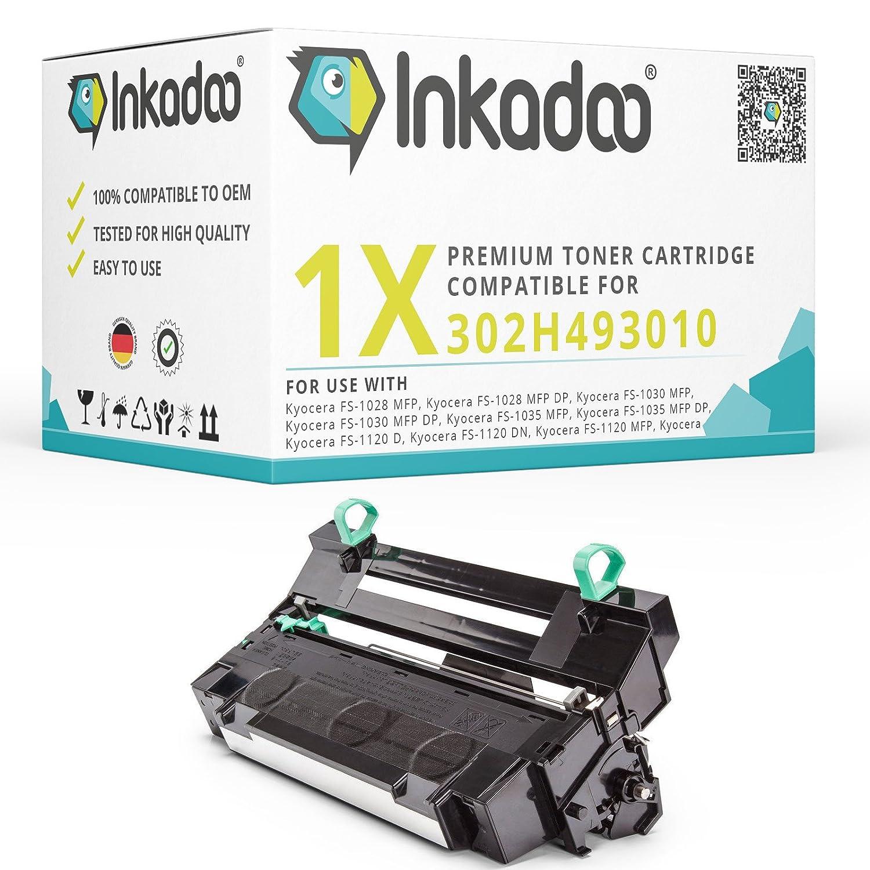 Inka Doo® Tamburo Compatibile per Kyocera FS-1035MFP DP sostituisce Kyocera DK1502h493010, 302H493010, 302H493011–Premium tamburo compatibile–nero–100.000Pagine Inkadoo