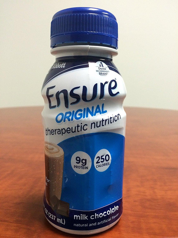 Ensure Original Therapeutic Nutrition Shakes, Milk Chocolate, 8-fl-oz (237-mL) Bottles - 1/Case of 24-Bottles