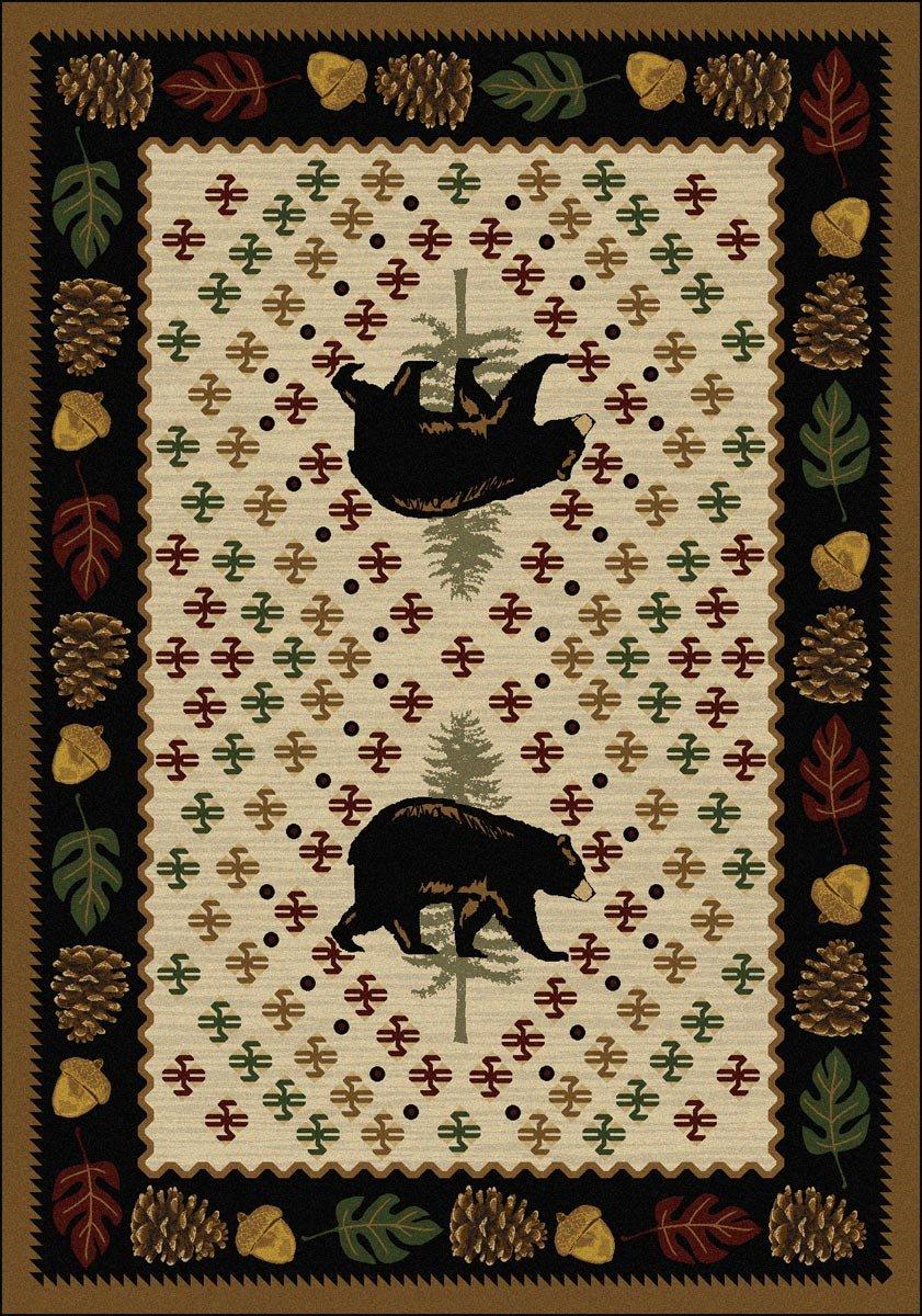 Bear Patchwork Natural Rug - 4 x 5