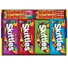 SKITTLES & STARBURST Halloween Candy Full Size Variety Mix 30-Count Box