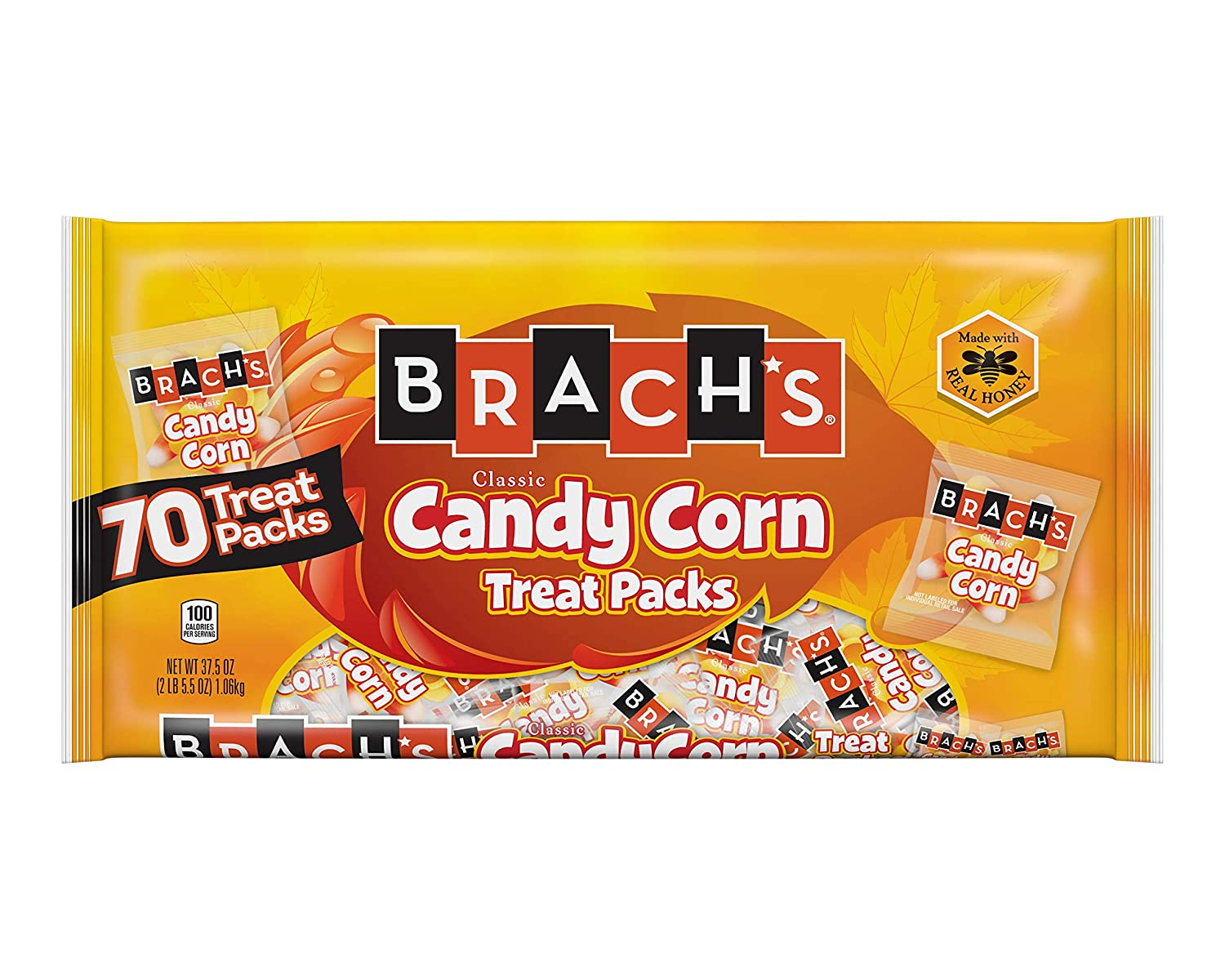Brach's Candy Corn Treat Packs, 37.5 Ounce (Pack of 1),70 Count