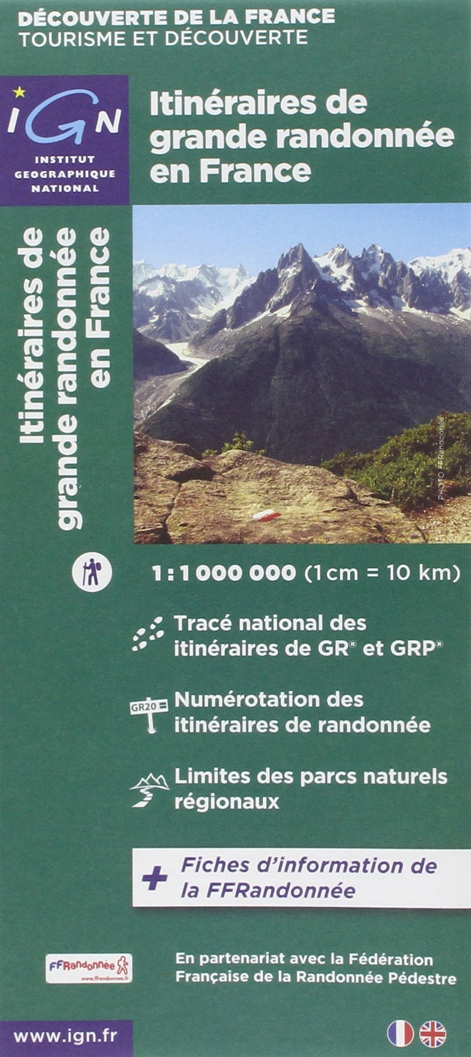 carte de france ign Long Distance Footpaths in France IGN (Itine'raires de grand