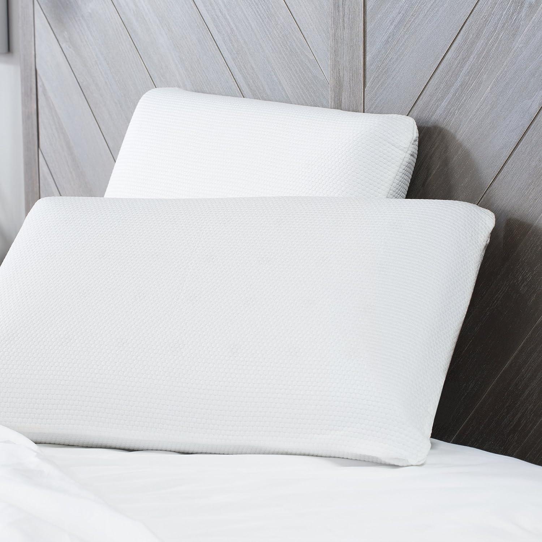 SensorPEDIC Classic Comfort - Almohada de Espuma de Memoria con tecnología de ventilación iCool estándar, Color Blanco: Amazon.es: Hogar