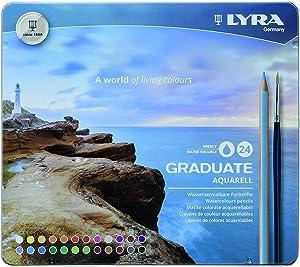 Lyra Graduate Aquarell Colored Pencil Set, Assorted Colors, Set of 24, 2881240