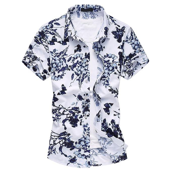 wholesale dealer d9e61 5f1ff MOGU Camicie a Maniche Floreale Casual Corte Stampate a ...