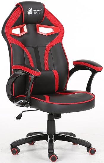 Green Soul Gaming Chair (Alien Series, GS-720/Black-Red)