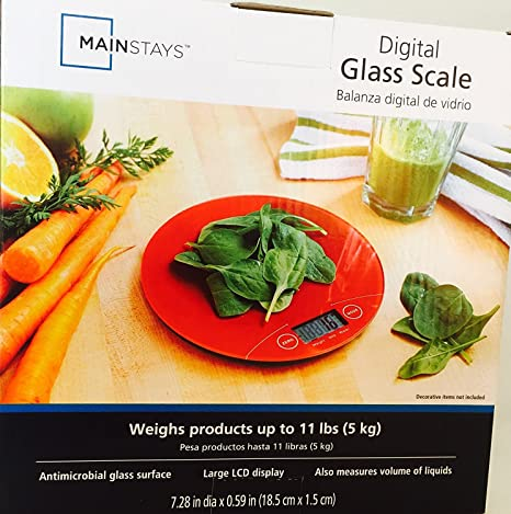 Báscula digital de cristal de la marca Mainstis, báscula digital de cocina para alimentos de