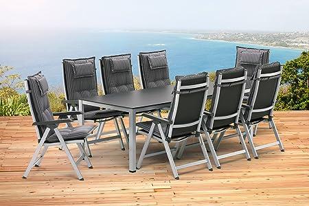 Kettler Gartenmöbel Set Tisch mit 4 Stühlen und Auflagen in