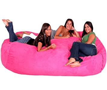 Cozy Sack 8 Feet Bean Bag Chair X Large Hot Pink