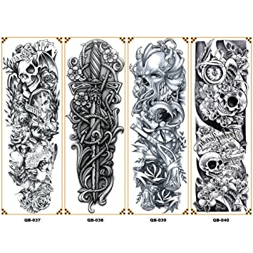 Amazoncom Fake Sleeves Tattoo For Full Arm Temporary Design For