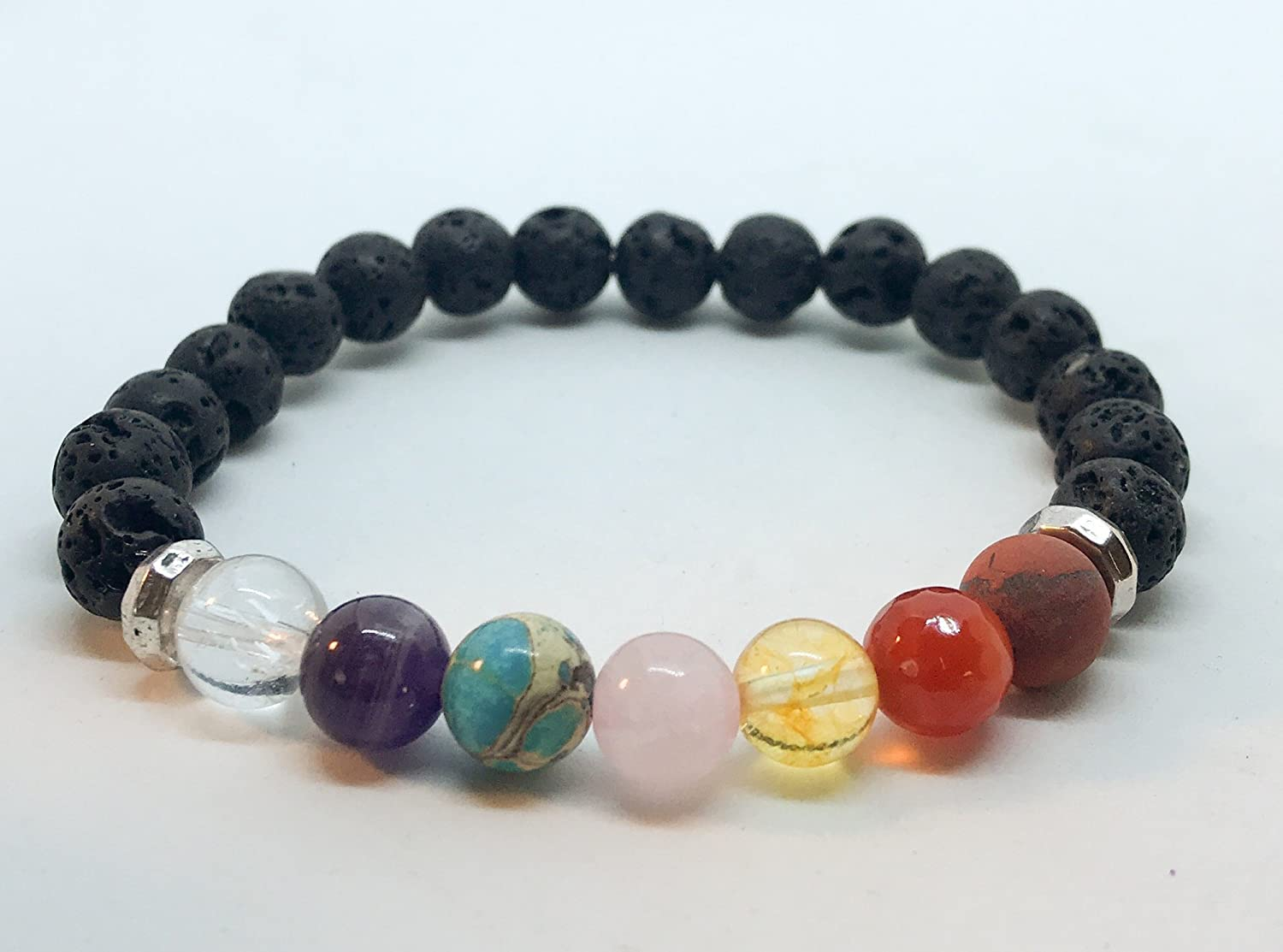 Chakra Aromatherapy Diffuser Bracelet Gift for her , gift for mom, valentines