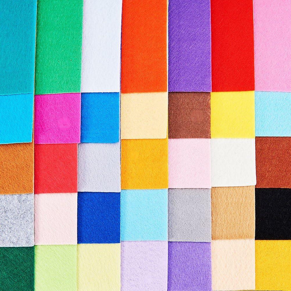 Feuille de Tissu Non tisse Crafts DIY Polyester Feutrine pour lartisanat?? Couleurs melangees 30 cm x 30 cm Fibre BENECREAT 40 PCS 12 x 12 Pouces Couleurs Mixtes,
