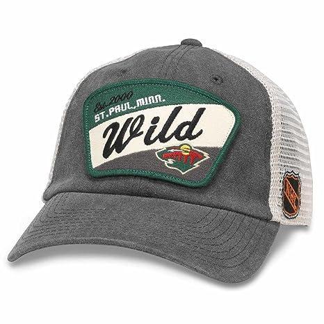 423b3a0d American Needle Minnesota Wild Adult NHL Ravenswood Adjustable Hat -  Charcoal, Adjustable