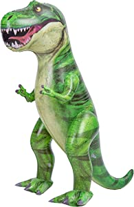 "JOYIN 30"" T-Rex Dinosaur Inflatable, Tyrannosaurus Rex Inflatable Dinosaur Toy for Pool Party Decorations, Dinosaur Birthday Party Gift for Kids and Adults"