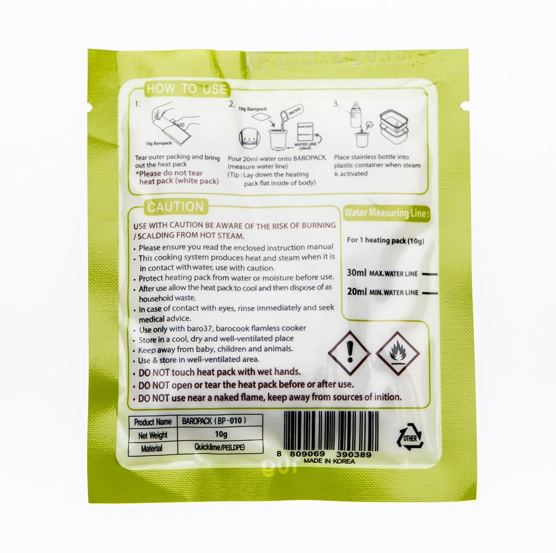 barocook Calefacción paquetes con 10 g para calentador de biberones baro37 (10 unidades): Amazon.es: Bebé