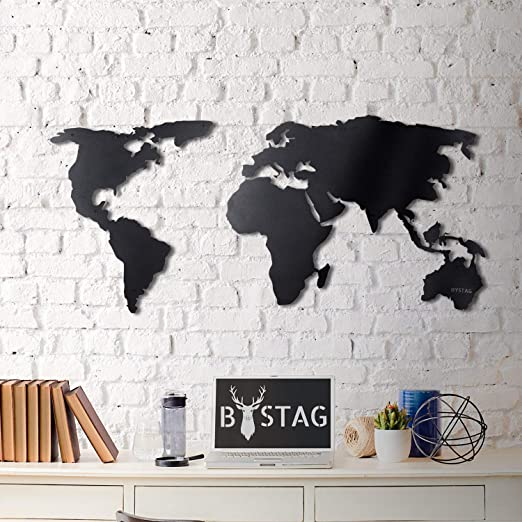 Tubibu World Map - Cuadro decorativo para pared, diseño de mapa ...