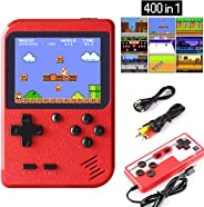 JAMSWALL Handheld Game Console, Retro Mini Game Player with 400 Classical FC Games 2.8-Inch Color Screen Support for Connect