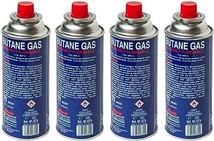We Can Source It Ltd - Botellas de gas butano para estufas portátiles, calentadores de parrilla, varita de chef - Botes de gas butano - Pack de 4 ...