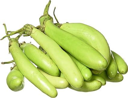 Fresh Round Brinjal, Green, 500g