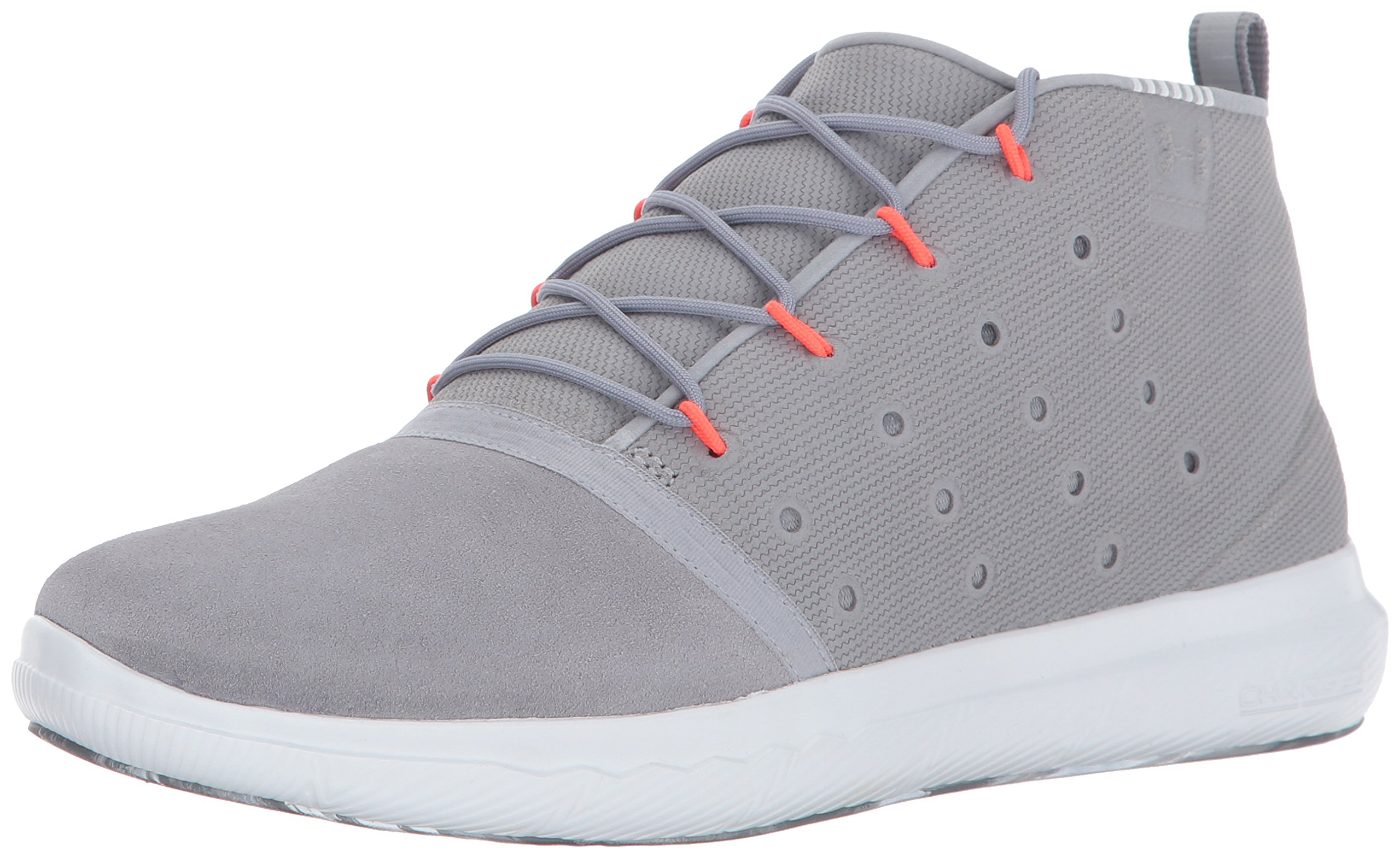 Under Armour Women's Charged 24/7 Mid Marble Sneaker, Steel (035)/Overcast Gray, 7.5