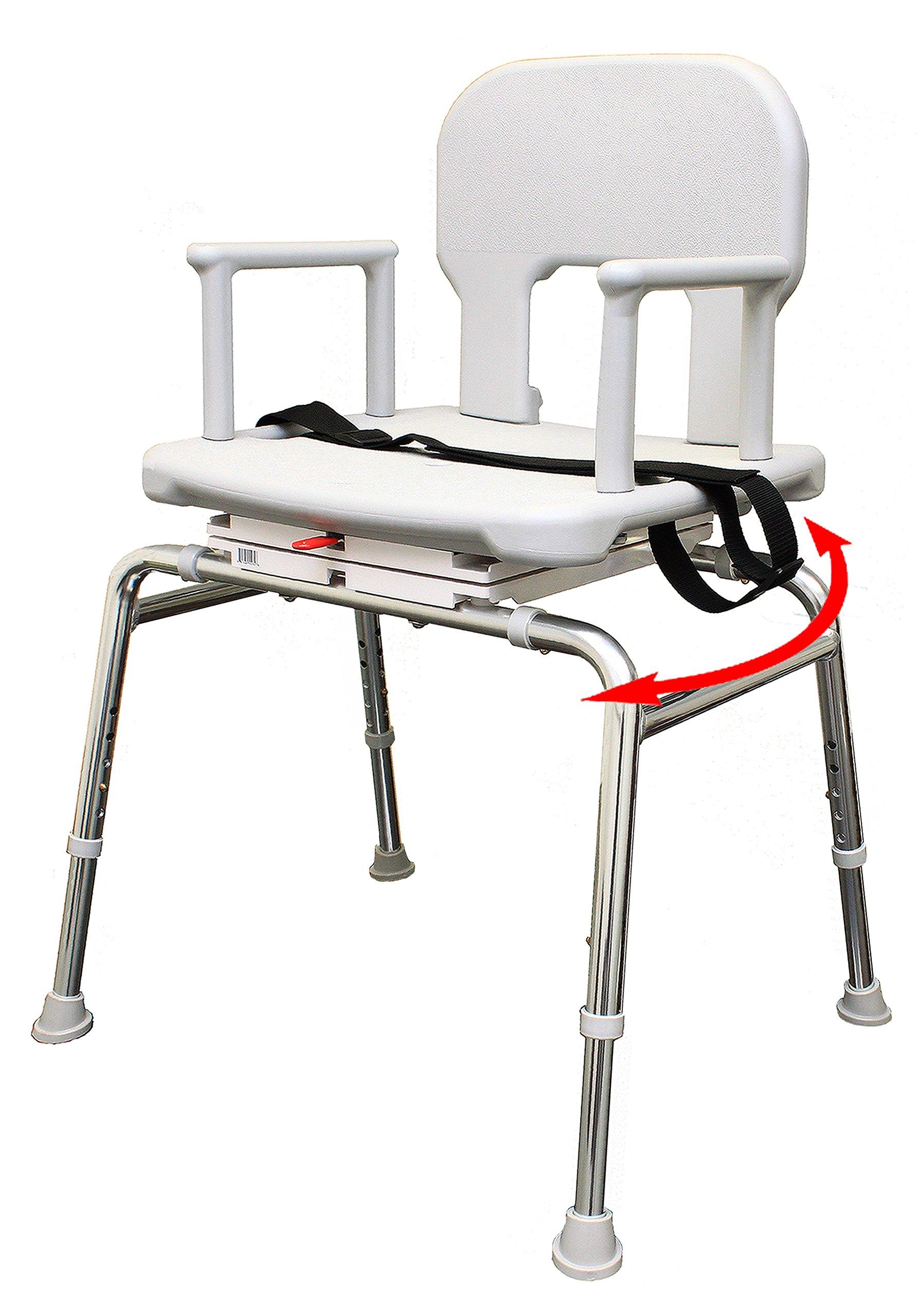 Bariatric Swivel Shower Chair (55232) - Heavy-Duty Shower Bathtub Chair - Eagle Health Supplies