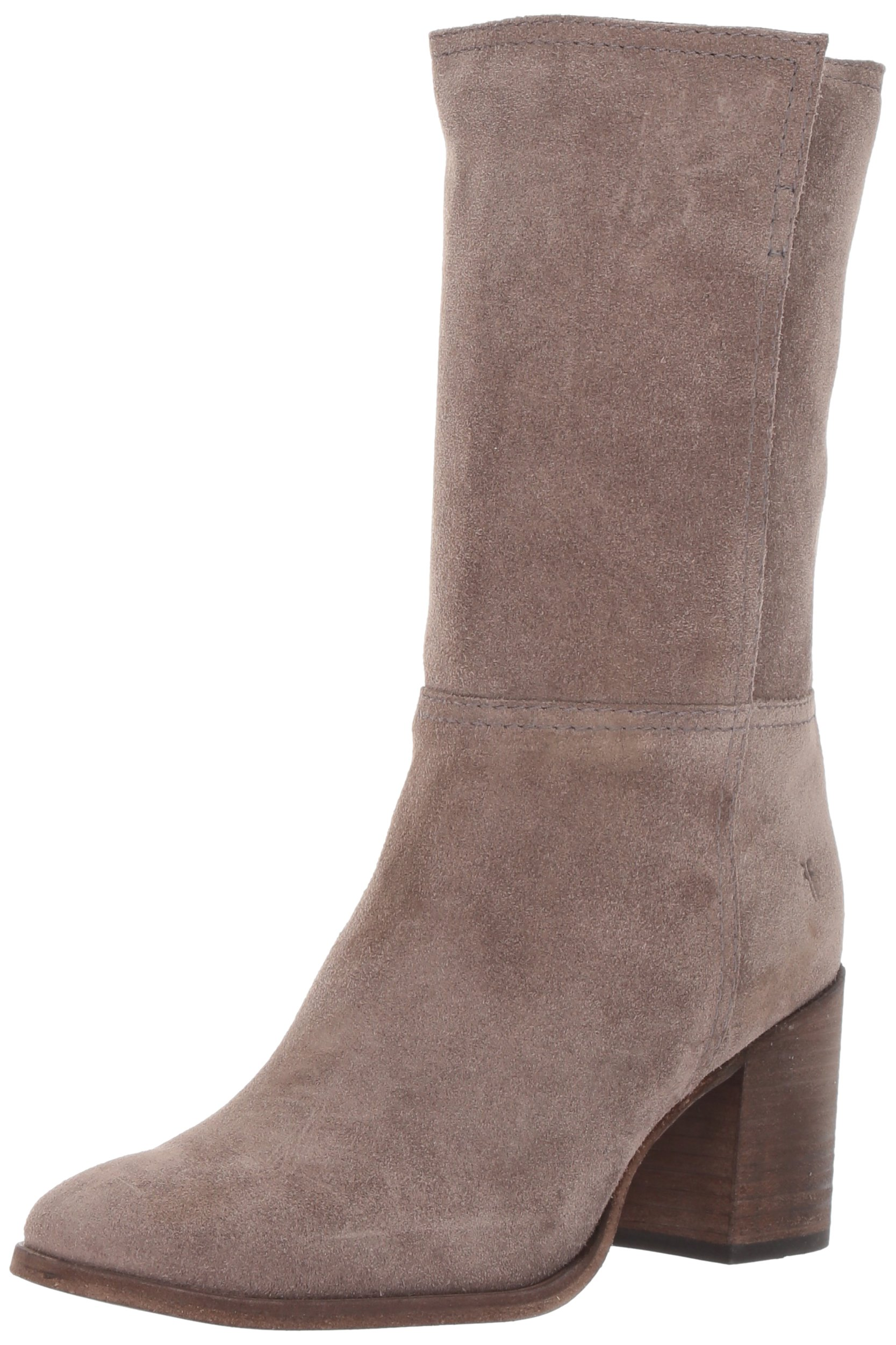 FRYE Women's Nora Mid Pull on Boot, Elephant Soft Oiled Suede, 11 M US