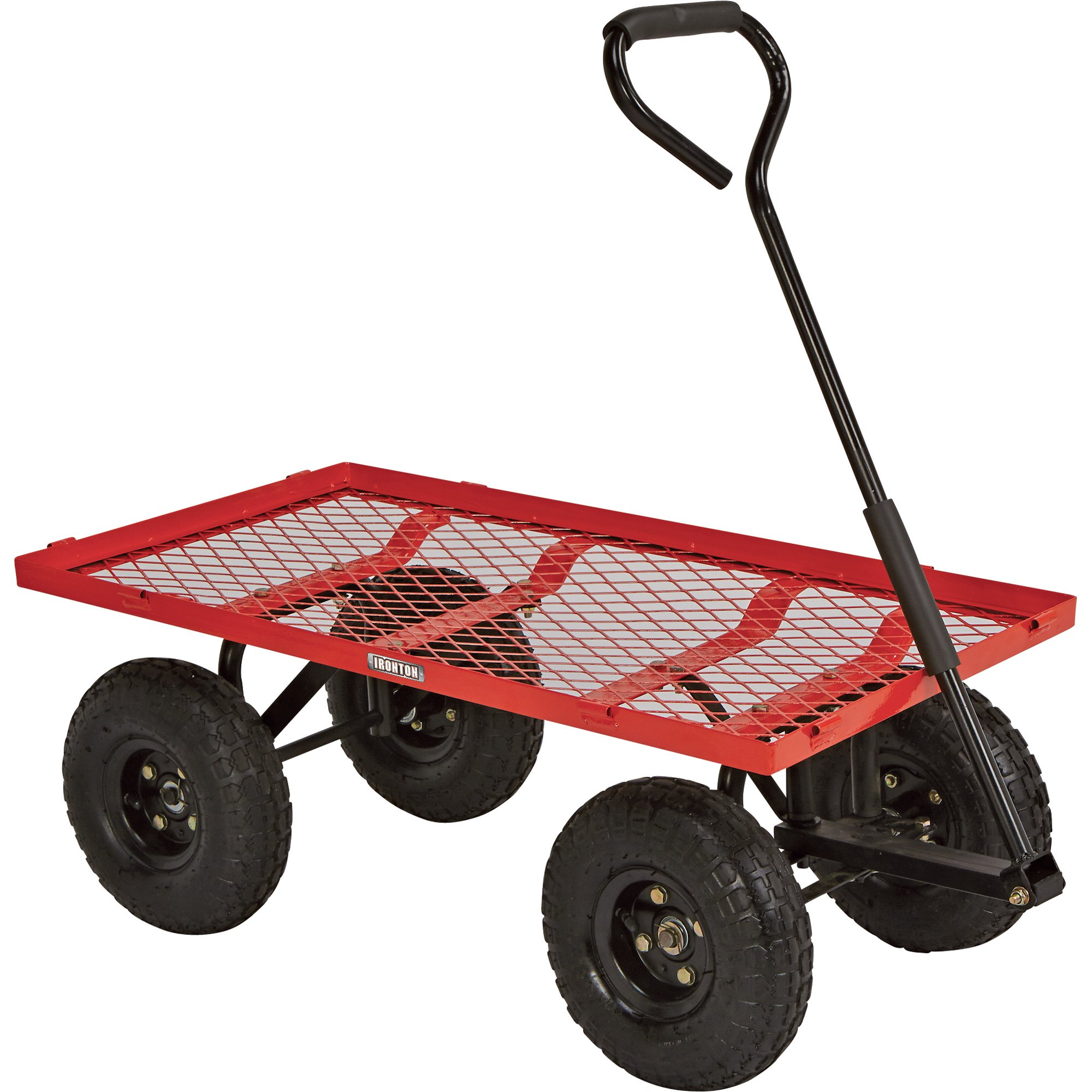 Steel Cart, 34in.L x 18in.W, 400-Lb. Capacity by Ironton (Image #2)