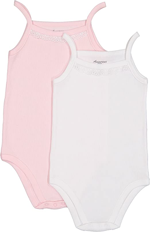 Pack of 3 Baby Girl or Boy White Pure Cotton Sleeveless Bodysuits