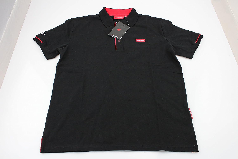 Audi 3131501225 para hombre Polo de deporte, XL, color negro ...