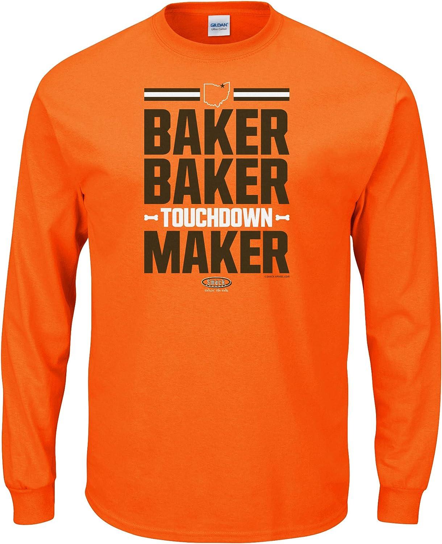Smack Apparel Cleveland Football Fans. Baker Baker Touchdown Maker T-Shirt (Sm-5x)